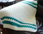 Crochet Afghan Pattern: Brick Stitch Afghan, Baby  to King sized blanket