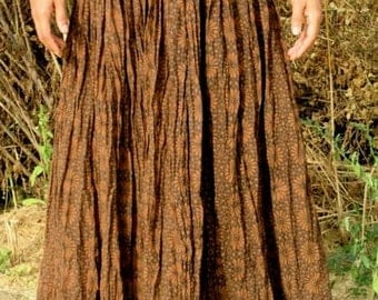 Handmade Blockprint Fabric Skirt ~ Natural Dye ~ Organic ~