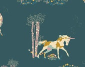Unicorn Fable Balsamtree  FAN-4080 - FANTASIA  by Sara Lawson for Art Gallery Fabrics  - By the Yard