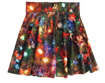 Christmas Tree Skater Skirt