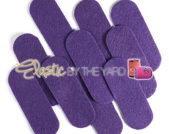 "3 1/2"" Purple NON Adhesive Felt Oblongs 10 Pack for Baby Headbands"