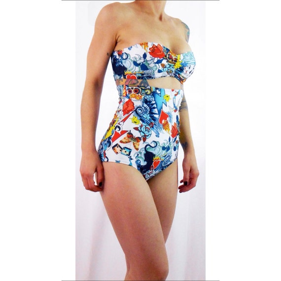 If you want cheap high waisted swimsuits that are high quality and will last a long time check out AMI brand women's swimsuits! Shop for high waisted bikini bottoms at discount prices everyday at AMIClubwear.