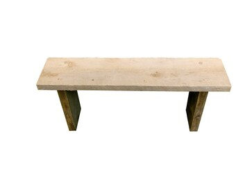 """Raw Pine Wood Bench - """"For the rest of us"""""""