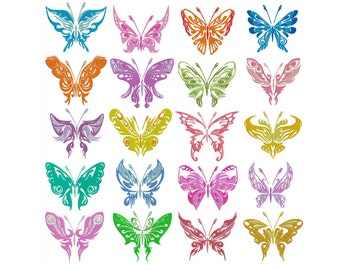 BUTTERFLIES 1 - Machine Filled Embroidery - Instant Digital Download