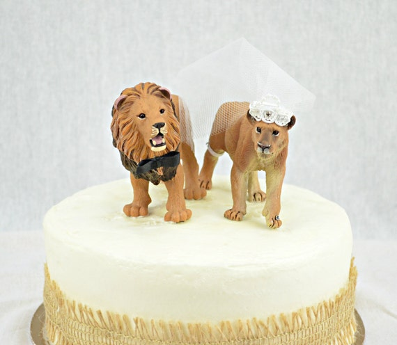 Lion Cake Topper Jungle Wedding Cake Topper READY TO SHIP
