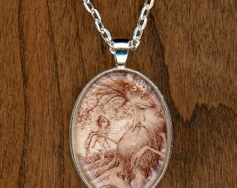 On the Mend Tree and Fairy Pendant Necklace