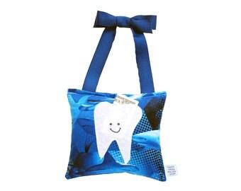 Tooth Fairy Pillow Boys Tooth Fairy Personalized Tooth Fairy Gift for Boys Personalized Tooth Fairy Pouch in Ocean Shark Print