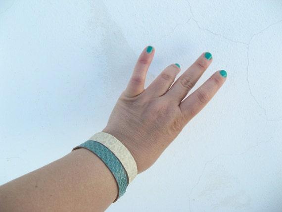 Leather boho bracelet , croco bracelet, Boho bracelet, genuine leather ,boho chic aztec bohemian cuff bracelet BOHEME cuir bijoux bohemes