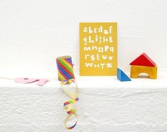 5 Postcard Artprints Toyblocks SNUG.ABC