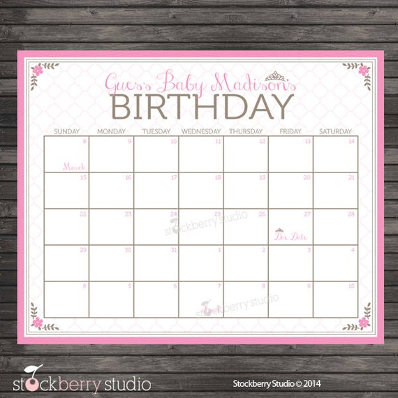 Game Guess Baby Due Date Calendar | newhairstylesformen2014.com