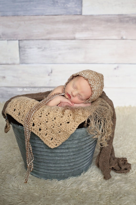 Newborn Knit Baby Bonnet | Newborn Knit Photo Prop | Newborn Alpaca Baby Bonnet | Handspun Knit Baby Bonnet | Newborn Photo Prop
