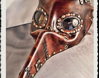 Steampunk leather mask - Wild Plague Doctor - Pestarzt -