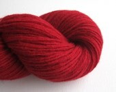 Worsted Weight Lambswool Blend Recycled Yarn, Red, 310 Yards, Lot 060315