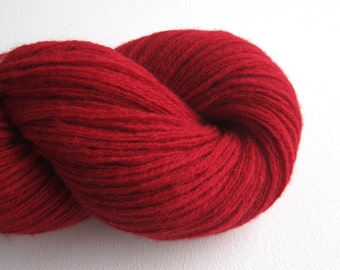 Worsted Weight Lambswool Blend Recycled Yarn, Red, 700 Yards, Lot 060315