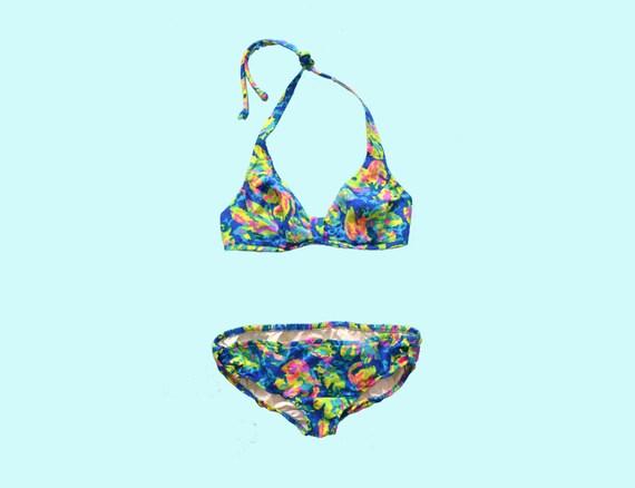 1970s Neon Bikini size M