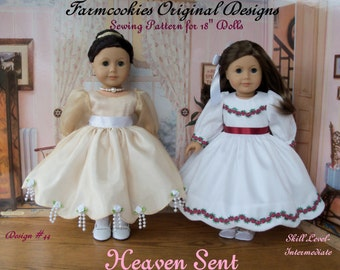 "PDF Sewing Pattern / HEAVEN SENT /  Patterns for American Girl or Other 18"" Dolls"