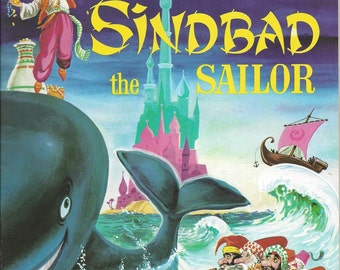 Sinbad the Sailor Color by Number Vintage Book, 1960s