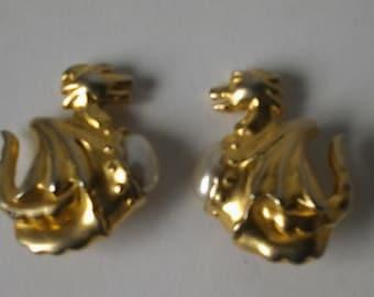 LANVIN  earrings from 80s
