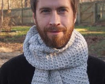 Men's Scarf Crochet Pattern Metro Scarf PDF 208