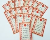 20 Vintage Unused Pick Your Lucky Girl 1 Cent to 39 Cent Punch Card Game--FREE SHIPPING