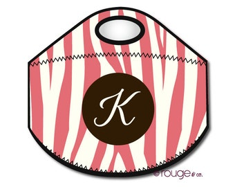ZEBRA monogrammed lunch tote - with customizable pattern and monogram