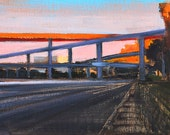 I-5 at Dusk- San Diego Landscape Painting