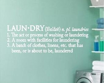 Laundry Definition -Vinyl Lettering wall words graphics Home decor itswritteninvinyl