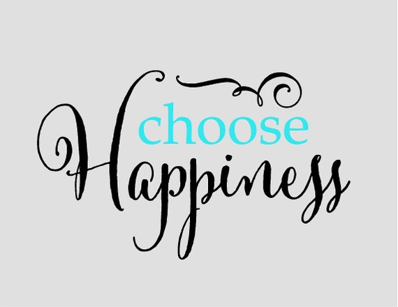 Items similar to Choose Happiness - Vinyl Lettering wall ...