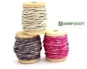 Hemp Twine Mini Spools, Sparkle Combo, High Quality 1mm Hemp Crafting Cord