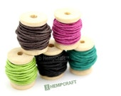 Hemp Twine Mini Spools, Color Combo, High Quality 1mm Hemp Crafting Cord