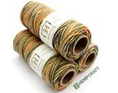 Hemp Twine, Orange Grey Brown Yellow Multicolor 'Harvest Moon' 1mm Hemp Craft Cord