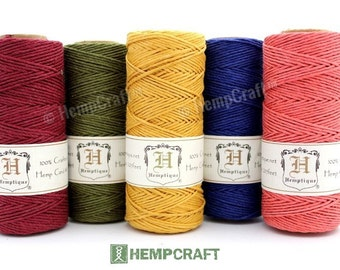 Hemp Twine, Beach Cottage, Bulk 5 Spools, Jewelry Making Hemp Beading Cord