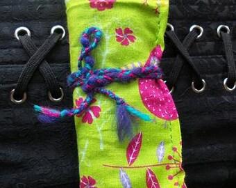 Green Owl Crochet Hook Roll / Organiser