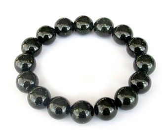 12 Green Sandstone Prayer Beads Meditation Yoga Japa Mala Rosary Bracelet  T3234