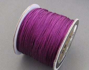 One Roll Purple Silk Jewelry Cord Finding For Bracelet/Pendant/Necklace/Hanging/Craftwork  ja620