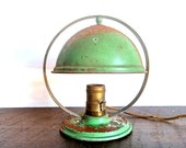 Mint Green Antique Industrial Desk Lamp