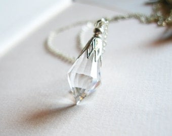Icicle - clear crystal prism necklace