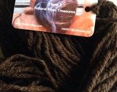 Brown hand spun yarn Corriedale wool DK yarn