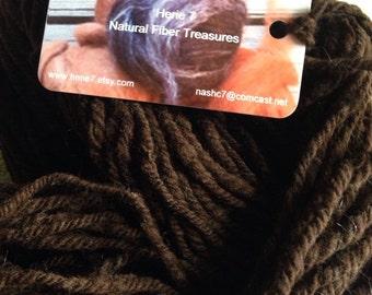 Yarn Corriedale brown wool hand spun - Sale Yarn DK weight