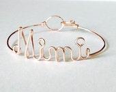 """Dainty  """"Mimi"""" bracelet. Mimi Gift. Mimi Bracelet. Mimi Jewelry.Nona Nonnie Nanna Granny Mimi Mother's Day Giftm. Gifts under 20"""