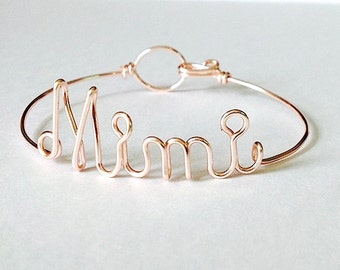 "Gifts for Mimi- Dainty  ""Mimi"" bracelet. Mimi Gift. Mimi Bracelet. Mimi Jewelry.Gifts for mom, mimi gift, Mimi, Gifts under 20"