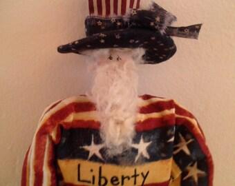 SCOFG, Handmade, Americana, Uncle Sam, Doll, Home Decor