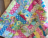Modern Baby Quilt Floral Patchwork and Minky Good Company Jennifer Paganelli Newborn Lovey Size Ready to Ship 20X26