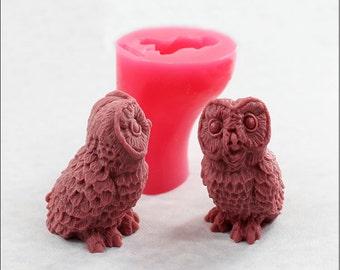 Owl Mold for Soap, Wax, Bath Balm, Chocolate (359)