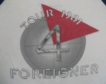 FOREIGNER 1981 TOUR T SHIRT