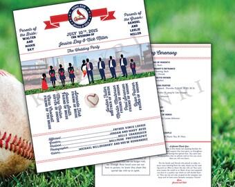 Baseball Wedding Programs - Baseball - Bridal - printable