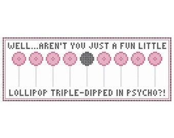 A FUN LITTLE LOLLIPOP Cross Stitch Chart