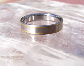 NEW Cobalt Chrome 24K gold Abyss Wedding Band Ring