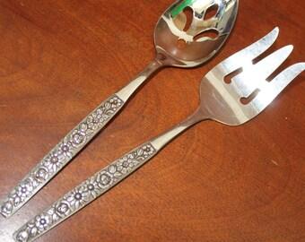 MALIBU in stainless from Rogers ONEIDA vintage flatware silverware bin 25