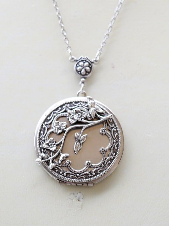 Locket necklacecherry like this item mozeypictures Image collections